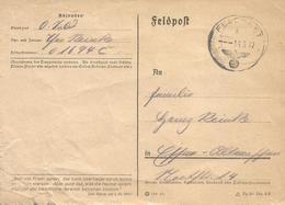 Afrikakorps 1942 Feldpost 01694C Stab III Und 9.-12. KompaniePanzergrenadier-Regiment 104 - Allemagne