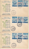 FREE THE COMMUNISTS PRISONERS, FREE EUROPE, EXILE IN SPAIN, SPECIAL COVER, 3X, 1961, ROMANIA - 1948-.... Républiques