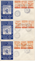 FREE ROMANIA, CRUCIFIXION OF ROMANIA, EXILE IN SPAIN, SPECIAL COVER, 3X, 1959, ROMANIA - 1948-.... Républiques