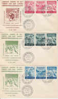 GENEVE CONFERENCE, FREEDOM FOR EAST EUROPE, EXILE IN SPAIN, SPECIAL COVER, 3X, 1959, ROMANIA - 1948-.... Républiques