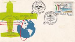 POLAR PHILATELY, CIRCUMPOLAR RECORD FLIGHT, C. ROSETTI, SPECIAL COVER, 1992, ROMANIA - Polar Flights