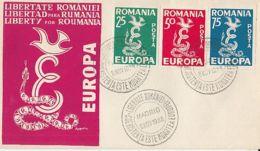 EUROPA CEPT, FREE ROMANIA, EXILE IN SPAIN, COVER FDC, 1958, ROMANIA - Europa-CEPT