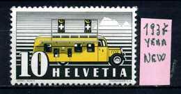 SVIZZERA - HELVETIA - Year 1937 - Nuovo - New - Fraiche - Frisch - MH.. - Svizzera