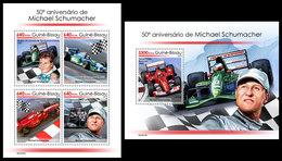 GUINEA BISSAU 2019 - Michael Schumacher, Cars. M/S + S/S. Official Issue - Automovilismo