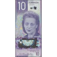 TWN - CANADA NEW - 10 Dollars 2018 Polymer - Prefix FTW - Signatures: Wilkins & Poloz UNC - Canada