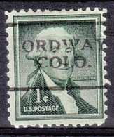 USA Precancel Vorausentwertung Preo, Locals Colorado, Ordway 701 - Vereinigte Staaten
