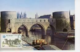 Pont Des Trous à Tournai-Europa-Cathédrale,bateau,Belgique-carte Maximum - Ponts
