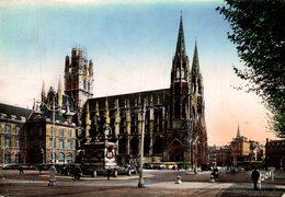 ROUEN  PLACE DE L HOTEL DE VILLE EGLISE SAINT OUEN - Rouen