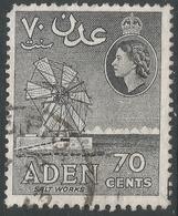 Aden. 1953-63 QEII. 70c Used. SG60 - Aden (1854-1963)