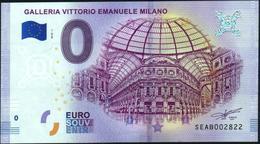 Zero - BILLET EURO O Souvenir - GALLERIA VITTORIO EMANUELE MILANO 2018-1set UNC {Italy} - EURO