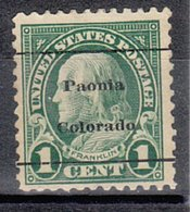 USA Precancel Vorausentwertung Preo, Locals Colorado, Paonia 552-L-1 TS - Vereinigte Staaten
