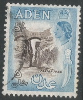 Aden. 1953-63 QEII. 5/- Used. SG67 - Aden (1854-1963)