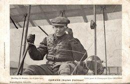 Meeting ROUEN 1910 CHAVEZ Biplan FARMAN Publicitaire Champagne Léon CHANDON - Pionniers Aviation - Rouen