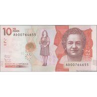 TWN - COLOMBIA 460b - 10000 10.000 Pesos Oro 2.8.2016 (2017) Prefix AD UNC - Colombie