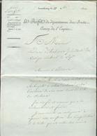 Circulaire Imprimée De LUXEMBOURG Le 10 Décembre 1810 LE PREFET Du Département Des FORETS, Baron De L'Empire à Mr. De Bl - Luxembourg
