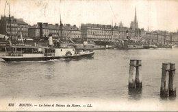 ROUEN  LA SEINE ET BATEAU DU HAVRE - Rouen