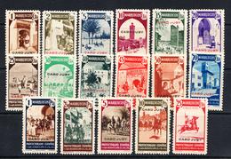 CABO JUBY 1939.SELLOS  DE MARRUECOS HABILITADOS .EDIFIL Nº 112/132 NUEVOS CON LIGERA  CHARNELA  CLASI AZUL - Cabo Juby