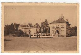 BOITSFORT - La Place Et Maison Communale (avec Tram) - Watermaal-Bosvoorde - Watermael-Boitsfort