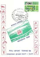 """2633 """" PHIL-SPORT TORINO '86-CONGRESSO GRUPPO SPORT-C.I.F.T. """" FDC ORIGINALE - 6. 1946-.. Republic"""
