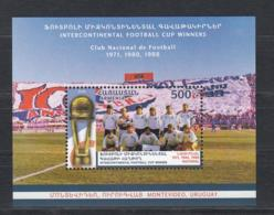 Armenia Armenien MNH** 2018 Uruquay Three Times Winner Of Intercontinental Football Cup Mi 1101 Bl.94 M - Clubs Mythiques
