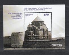 Armenia Armenien MNH** 2018 Church Of Saint Hripsime In Vagharshapat Mi 1102 Bl.95 - Armenien
