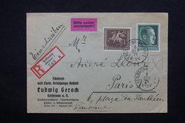 ALLEMAGNE - Enveloppe Commerciale En Recommandé De Heilbrom Pour Paris En 1938  , Affranchissement Plaisant - L 23035 - Allemagne