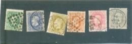 1869  BELGIQUE Y & T N° 30 à 35 ( O ) Les 6 Timbres - 1869-1883 Leopold II