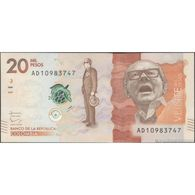 TWN - COLOMBIA 461b - 20000 20.000 Pesos Oro 2.8.2016 (2017) Prefix AD UNC - Colombie