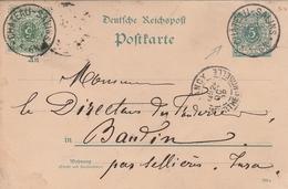 France Lorraine Entier Postal Château-Salins 1892 - Marcophilie (Lettres)