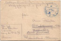 Afrikakorps 1944 Feldpost 01694C Stab III Und 9.-12. KompaniePanzergrenadier-Regiment 104 POW Tunisia - Allemagne