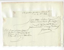 Jean-Baptiste Jourdan (1762-1833) 1814 ROUEN MARECHAL EMPIRE AUTOGRAPHE ORIGINAL AUTOGRAPH /FREE SHIP. R - Autographes