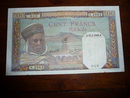 ALGERIE * 100 Francs   A 23 - 7 - 1945 A    TTB - Algeria