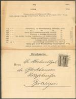 2 Centimes ADOLPHE Préo LUXEMBOURG-VILLE 1901 Sur Imprimé 'carte  Double STENGER & ROTTER's JAPANISCHER BLUMENRASEN (fle - Luxemburgo