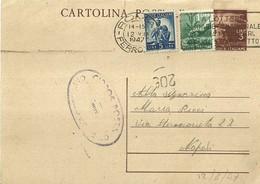 """2635 """"AFFRANCATURA VARIA-CARTOLINA DAL CAMPEGGIO DI VICARELLO """" CART. POSTALE ORIGINALE SPEDITA - 6. 1946-.. Repubblica"""
