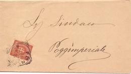 1898 Piego Con Stemma Di Savoia Da 2c Per Poggimperiale 024 - 1900-44 Vittorio Emanuele III