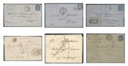 Histoire Postale Département 39 LANDES : Lot De 6 Lettres Avant 1900 - Marcophilie (Lettres)