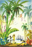 CARTE POSTALE PORTEFEUILLE - AQUARELLE DE JEAN-ADRIEN MERCIER - Paysage Tropical - Editions G. DELABERGERIE - Peintures & Tableaux