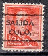 USA Precancel Vorausentwertung Preo, Locals Colorado, Salida 716 - Vereinigte Staaten