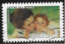 TIMBRE ADHESIF N° 76  -  MERE ET ENFANTS  CASSAT-  OBLITERE  -  2006 - Adhésifs (autocollants)