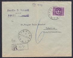 Yugoslavia 1949 R-letter Franked With Official Stamp Sent From Senta To Subotica - 1945-1992 Sozialistische Föderative Republik Jugoslawien