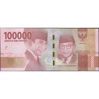TWN - INDONESIA 160c - 100000 100.000 Rupiah 2016/2018 Various Prefixes UNC - Indonésie