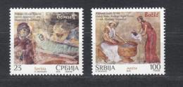 Serbia Serbien MNH** 2018 Christmas Stamps  S 871-72 M - Christmas