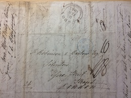 FRANCE 1840 Entire Paris To London - Postmark Collection (Covers)