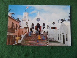 CARIBBEAN: BERMUDA St Georges Parish Church Colour Bard - Bermuda