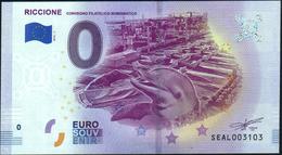 Zero - BILLET EURO O Souvenir - RICCIONE Convegno Filatelico 2018-1set UNC {Italy} - EURO