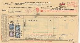 FATTURA Marca Da Bollo VACUUM OIL COMPANY SAI Di Trieste Anno 1940 Pordenone - Italia