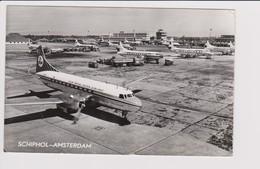 Vintage Rppc KLM K.L.M Royal Dutch Airlines Convair 340 & Viscount @ Schiphol Airport - 1919-1938: Entre Guerres