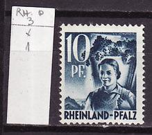 Allemagne Rhéno Palatin - Germany - Deutschland 1947-48 Y&T N°3 - Michel N°3 * - 10p Vigneronne - Zone Française
