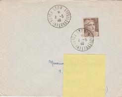 OBLIT. TEMPORAIRE FOIRE DE LYON 5/46 - Postmark Collection (Covers)