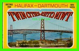 HALIFAX, NOVA SCOTIA - GREETINGS FROM HALIFAX-DARMOUTH - FOLDER - - Halifax